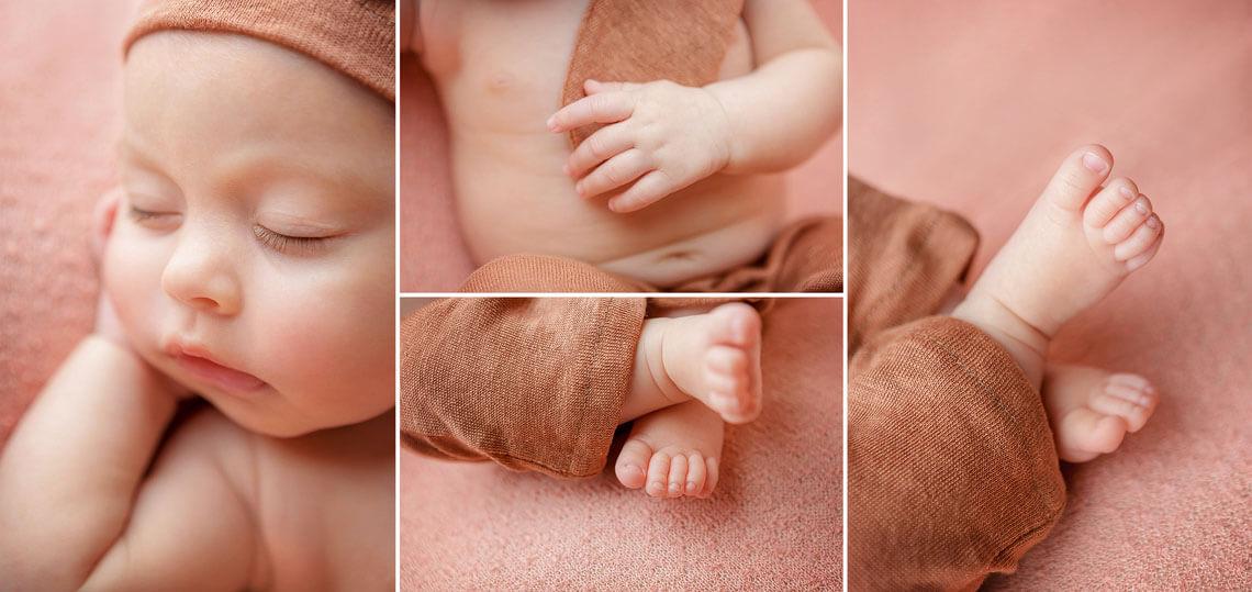 colaj detalii fotografie nou-nascut ioana