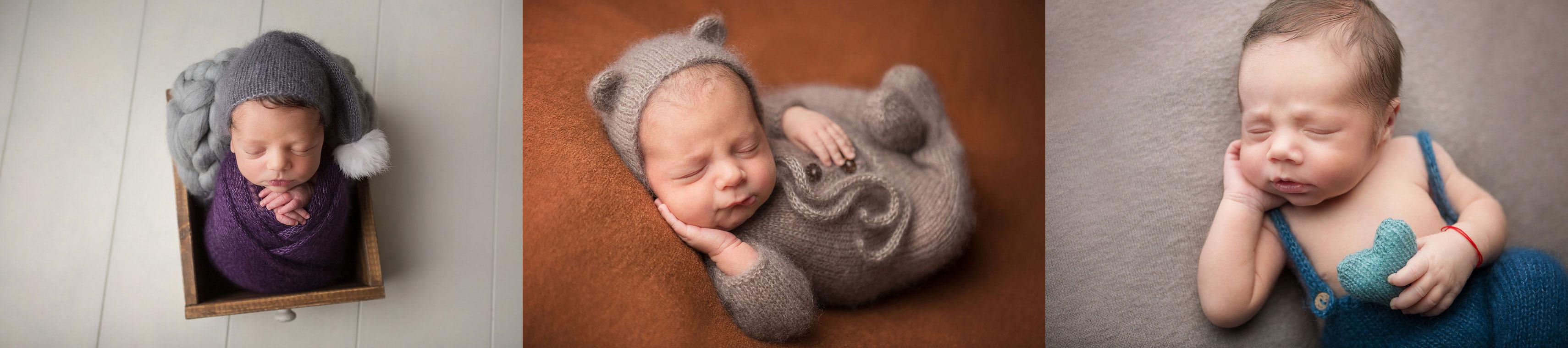 trei fotografii de la sedinte foto nou-nascut